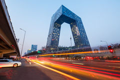 China Central Television (CCTV) Headquarters,in Beijing Royalty Free Stock Photo