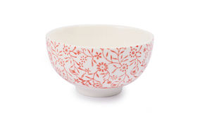 China ceramic bowl. With red pattern royalty free stock photo