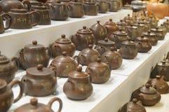 China ceramic tea pot sale exhibition Stock Photos