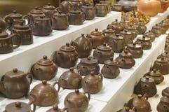 China ceramic tea pot sale exhibition Stock Photography