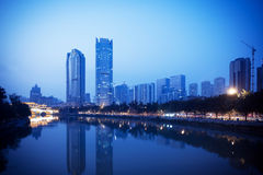 China Chengdu city building Royalty Free Stock Photo