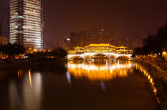 China Chengdu City Night Royalty Free Stock Photography