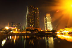 China Chengdu City Night Royalty Free Stock Photos