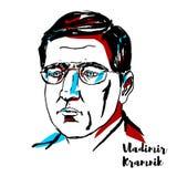 Vladimir Kramnik Portrait vector illustration