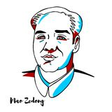 Mao Zedong Portrait stock illustration