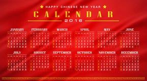 China,Chinese calendar 2016 Royalty Free Stock Photography