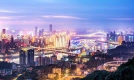 China Chongqing City Lights lizenzfreies stockfoto