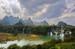 China Chongzuo Daxin County, Guangxi Shuo Xiang Tak-day falls. Eastphoto, tukuchina,  China Chongzuo Daxin County, Guangxi Shuo Xiang Tak-day falls Royalty Free Stock Photo