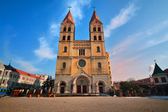 China Church in Qingdao city Stock Photography