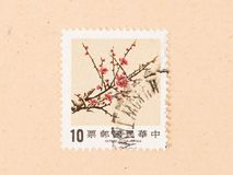 A stamp printed in China shows a tree, circa 1970. CHINA - CIRCA 1970: A stamp printed in China shows a tree, circa 1970 stock image