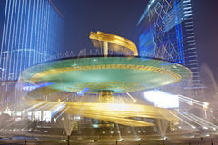 China city center square night Stock Photography