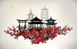 China city. Collection design element stock illustration