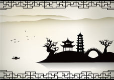 China city. Collection design element vector illustration