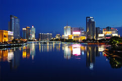 China city of Ningbo. Bordering the East-China Sea, ningbo is located in the middle part of China's mainland coastline and in the south of Yangtze River delta Stock Images