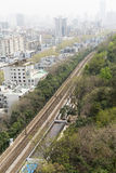 China City With Rail, Bird Eyes View Stock Photos