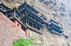 China cliff side architecture Stock Photo