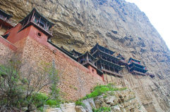 China cliff side temple. Cliff side temples in ancient china ruins Stock Photography
