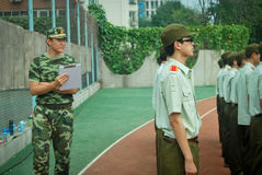 China college students military training activity 9 Royalty Free Stock Image