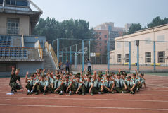 China college students military training activity 10 Royalty Free Stock Photos