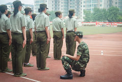 China college students military training activity 11 Royalty Free Stock Image
