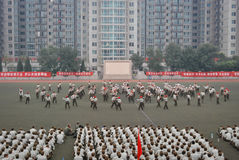 China college students military training 40 Royalty Free Stock Photography