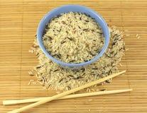 Rice, bowl and chopsticks Stock Image