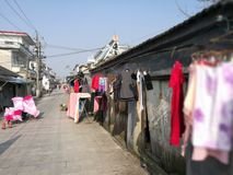 China common view in  a old historic street Royalty Free Stock Photo