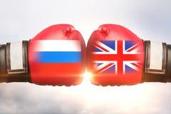 China contra o conceito BRITÂNICO ilustração stock