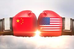 China contra o conceito de Rússia ilustração stock