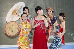 China Culture Fair - beautiful Shanxi girls Stock Photos