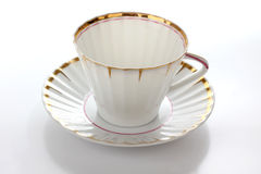 China cup of tea. Color photo of china cups of tea Royalty Free Stock Photography
