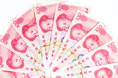 China Currency in white background Stock Images