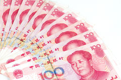 China Currency in white background Royalty Free Stock Images