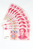 China Currency in white background Stock Image