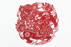 China cut paper by hand Stock Image