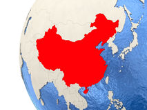 China on 3D globe Stock Images