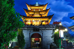 China - Dali. Dali old city, Main Gate at the night, China. Yunnan province Royalty Free Stock Photography