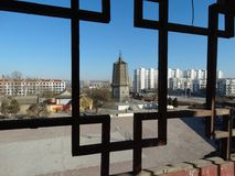 China Dalian en Liaoning wafangdian indica la torre del yongfeng imagen de archivo