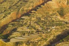 China de Gansu de las tierras de labrantío de la primavera Fotos de archivo