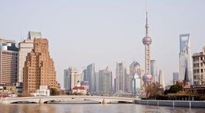 CHINA: De horizon van Shanghai Royalty-vrije Stock Afbeeldingen