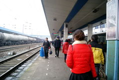 China de Hunan: ferrocarril de huaihua Foto de archivo libre de regalías