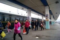 China de Hunan: ferrocarril de huaihua Imagenes de archivo
