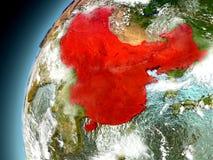 China de la órbita de Earth modelo Imágenes de archivo libres de regalías