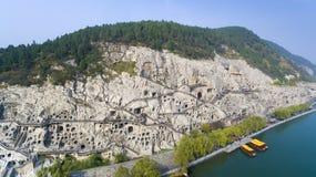 China de Luoyang de las grutas de Longmen Imagen de archivo