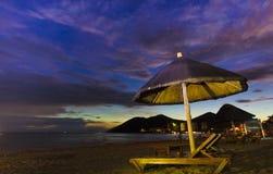 China de Sanya del yalong de la playa de la puesta del sol foto de archivo libre de regalías