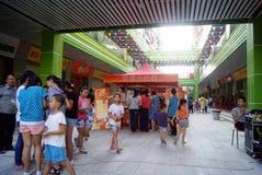 China de Shenzhen: calle del popo abierta para la celebración del negocio Imagen de archivo
