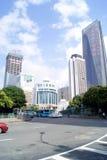 China de Shenzhen: construcción y camino de la ciudad Fotos de archivo libres de regalías