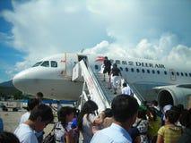 China  deer airline. China deer airline  at san ya airport hainan island China photoed in august 2010 Stock Photo