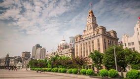 China del lapso de tiempo del panorama 4k de aduanas de la luz del día de la ciudad de Shangai metrajes