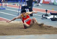 China del salto de longitud fotos de archivo